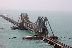 Pamban Cantilever Bridge At Rameswaram - #09022013-IMG_7956a (photographic Collection) Tags: ocean bridge sea sky india art clouds canon project landscape photography team artist waves photographer rail railway photographic collection 365 feb 9th 1914 tamilnadu rameswaram railbridge bayofbengal cantilever hws pamban sarma project365 2013 550d kalluri 365project t2i hyderabadweekendshoots canon550d teamhws canont2i photographiccollection bheemeswara bkalluri bheemeswarasarmakalluri