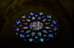 Circle of light (-klik-) Tags: color colour glass colors sevilla cathedral stainedglass seville stained