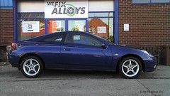 "Toyota Celica alloy wheels repair by We Fix Alloysed • <a style=""font-size:0.8em;"" href=""http://www.flickr.com/photos/75836697@N06/10825329163/"" target=""_blank"">View on Flickr</a>"