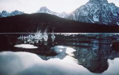 (Džesika Devic) Tags: travel blue mountains film 35mm dusk roadtrip banff analogue splash canonae1 freepeople westerncanada