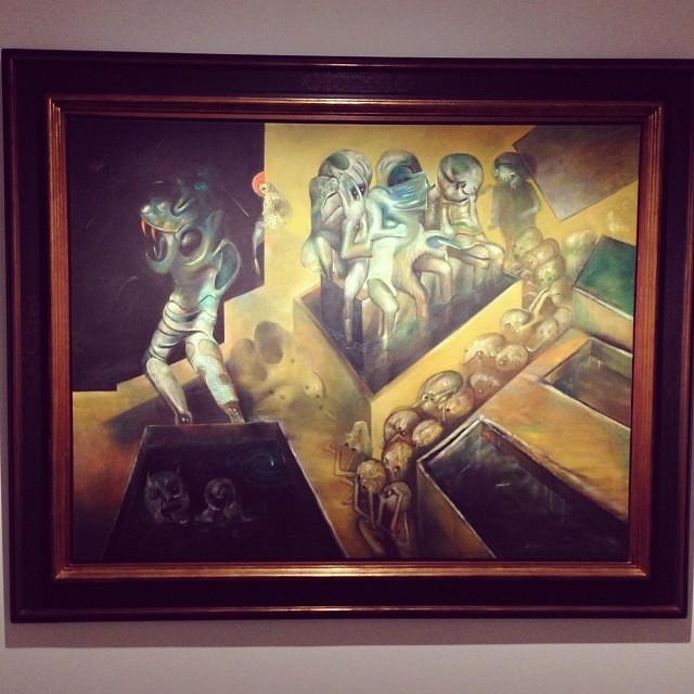 """""""La noche de los muertos vivientes"""" 1971 • """"El Pasado Presente"""" de Gerardo Chávez #art #arte #arteenlima #artinlima #artista #artist"""