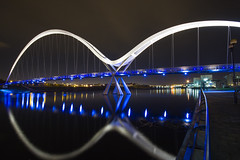 Blue Explored, many thanks. (cowboy72) Tags: bridge blue night canon reflections lights infinity 7d rivertees sigma1020 vision:mountain=0772 vision:sky=07 vision:dark=0761