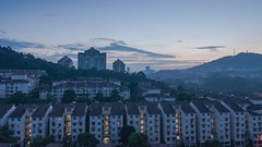 Morning at Damansara Damai (frahmanz) Tags: travel blue building sunrise landscape asian timelapse nikon time islam mosque hour malays