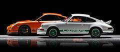 '73 - '07 - 911 Carrera RS 2.7 - 911 (997) GT3 RS - GT Spirit / AUTOart 1/12 (David.T Photography) Tags: canon eos 350d 911 replica porsche 27 112 997 autoart gt3rs carrerars gtspirit 55250