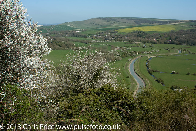 Cuckmere River from Frog Firle