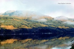 Reflections (Banchango) Tags: mist mountains water scotland landscapes highlands earlymorning scenic where views oban 1990 lochs helpwithlocationrequested