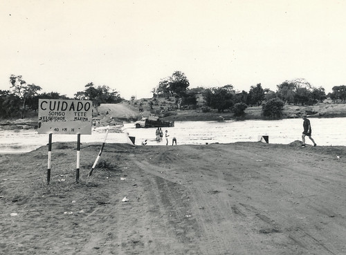 Flooded bridge in Moz somewhere (1971)