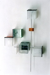 LBDMLCRDC n190  ( 2001 ), plexy, bois film mtallique, peinture. (emmanuelviard75) Tags: films bois inox plexy