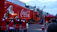 Coca Cola lorry and choir (Nicholls of the Yard) Tags: christmas choir northampton cola lorry coca
