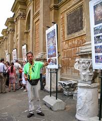 (Tiigra) Tags: 2007 italy rome vatican architdetail column people working vaticancity