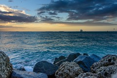 Sunset @ Key West (Ale Berger) Tags: ocean blue light sunset sky orange beach nature clouds contrast keys landscape boat lowlight nikon florida dusk low handheld keywest drama southflorida d600 fortzacharytaylor