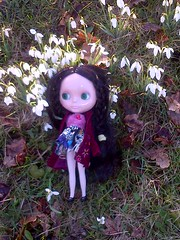 Lizbeth in the English countryside.
