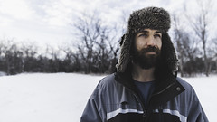Sam Goodwin (Tannerjalbert) Tags: winter portrait snow cold guy nature hat weather forest canon beard warm gritty tamron epic lumberjack 5dmarkii tanneralbert tannerja tannerjalbert {vision}:{outdoor}=0934 {vision}:{mountain}=0727 {vision}:{sky}=0579