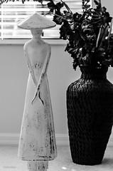 Lady In White!! (BGDL) Tags: blackandwhite sculpture monochrome statue florida ladyinwhite niftyfifty lakewoodranch 7daysofshooting nikond7000 blackandwhitewednesday bgdl lightroom5 nikkor50mm118g week32blackandorwhite