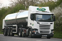 Scania G400 Arla NK63 AUO (SR Photos Torksey) Tags: truck transport lorry commercial vehicle tanker scania arla haulage g400