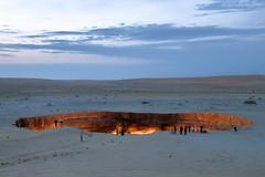 The Door to Hell (Stefan Schinning) Tags: door fire nikon hole hell explore crater turkmenistan d90 darvaza explored derweze