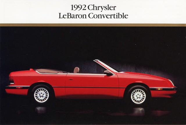 postcard convertible 1992 chrysler lebaron