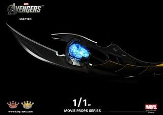 King Arts - 1/1電影道具系列 洛基 奇塔瑞權杖(Chitauri scepter)