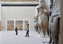 Assyrian art, Louvre museum Paris (Dan in Mars) Tags: paris france art statue museum gates louvre musée colossal assyria guardians syrie wingedbull sargon sedu khorsabad assyrie taureauailé dursharukin kingsargon roisargon