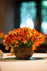Centro de mesa (Flor e Forma) Tags: flowers wedding flores yellow laranja decoration amarelo casamento centerpiece alstroemeria decorao vinho terracota iateclubedesantos centrodemesa minirosa florforma floreforma