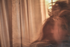 day 028. (H o l l y.) Tags: summer portrait selfportrait motion blur dark hair this was fan movement ghost tan front curtains forever took pageshollylayphotography116436495061760refmf