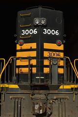 Alaska RR 3006 detail (CN Southwell) Tags: old railroad black alaska paint 3006