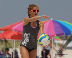 Gulf Shores Beach Volleyball Tournament (Garagewerks) Tags: woman beach girl sport female court sand all child gulf sony sigma tournament volleyball shores f28 70200mm views50 views100 slta77v