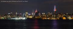 Midtown Night Skyline - Pride Week 2014 (P6290111) (Michael.Lee.Pics.NYC) Tags: newyork skyline night river pier manhattan voigtlander pride midtown hudson nokton hoboken 25mm 2014 a