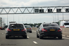 CDI vs AMG (MJParker1804) Tags: sedan wagon mercedes benz estate twin 63 turbo 350 shooting brake comparison saloon coupe v8 amg cls cdi cls63