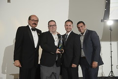 "L-R: Colin Wyatt, David Vanheukelom and Patrick McGuire - 2013 Founders of the Year, Stefano Plati • <a style=""font-size:0.8em;"" href=""https://www.flickr.com/photos/124986169@N08/14671520803/"" target=""_blank"">View on Flickr</a>"