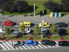 Colors on the street (sentsim) Tags: signal traffic road street cars romani travel bucharest