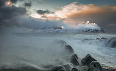 Arctic Cauldron (Jerry Fryer) Tags: vikten lofoten norway arctic coast 6d ef1635mmf4l leefilters rocks storm