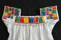 Otomi Blouse Embroidery Mexico (Teyacapan) Tags: blouses mexican otomi puebla sanpablito embroidery needlework sewing clothing