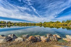 Fall (MikeRicciPhoto) Tags: fall leaves lake clouds reflection colorado sony a7 1740mml canon odc mikericciphoto