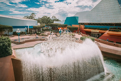 Disney's Epcot Center (Daniel A Ruiz) Tags: outdoor vacation disney epcot center waterfall water fountain buildings summer people sky blue