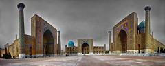 Registan_2 (Panormica  a partir de 6 tomas sin tripode) (bit ramone) Tags: uzbekistan samarcanda samarkanda panoramic panormica registan bitramone k5