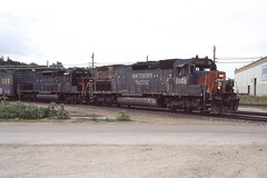 Southern Pacific SD45T-2 #6858 at Santa Fe Junction in Kansas City MO on 6-26-97 (LE_Irvin) Tags: kansascity sd45t2 southernpacific