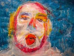 A Portrait Of The Artist As Snow Beast (giveawayboy) Tags: pen crayon drawing sketch art acrylic paint painting fch tampa artist giveawayboy billrogers self selfportrait portrait wmotf yeti sasquatch wildman morph mashup snow beast snowbeast primate cryptid