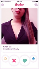 Lust (romaineLechuga) Tags: 7 deadly sins seven wrath sloth pride lust greed gluttony envy tinder netflix instagram facebook snapchat youtube