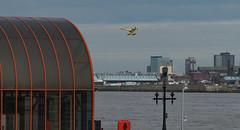 Seaplane (frisiabonn) Tags: sky seaplane plane aeroplane airplane propeller uk acl atlantic sea river mersey birkenhead england woodside
