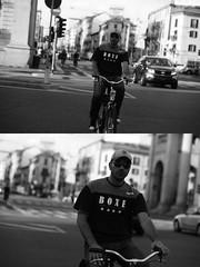 [La Mia Citt][Pedala] (Urca) Tags: milano italia 2016 bicicletta pedalare ciclista ritrattostradale portrait dittico nikondigitale mir bike bicycle biancoenero blackandwhite bn bw 89591