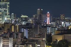 Osaka Night ([~Bryan~]) Tags: night osaka tower cityscape city urbanlandscape buildings  tennjiku tstenkaku japan citynight urban