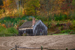 Chill (Chancy Rendezvous) Tags: chill chilly cold morning fall autumn color foliage cabin chimney field farm chancyrendezvous