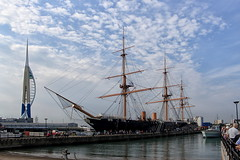 HMS Warrior 1860 (6079 Jones,P) Tags: canonefs1855mmiii portsmouth hampshire historic dockyard img4825p boat ship royal navy hms warrior spinnaker tower harbour port dock 1860 ironclad iron hull steam power canon eos 1200d