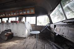 Into the Wild's Magic Bus (Giulia La Torre) Tags: alaska magicbus bus intothewild movie alexandersupertramp supertramp tramp seanpenn eddievedder fairbanks bus142 abandoned wideangle grandangolo fisheye fisheyelens lens