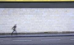 Hurry (CoolMcFlash) Tags: person movement motion blur longexposure street streetphotography wall negativespace copyspace canon eos 60d vienna bewegung bewegungsunschrfe move running laufen langzeitbelichtung strase mauer wien fotografie photography sigma 1020mm 35