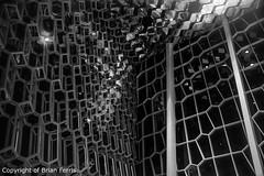 _IMG4335-Edit (acornuser) Tags: iceland europe city lanscape cityscape architecture building glass modern light night sky water reflection pentaxk3 sigma1770 bw blackandwhite sculpture harpa lighttrail viking reykjavik