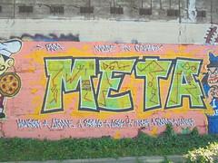 made in carmox (en-ri) Tags: meta roa verde rosa kanser atome seme ask tinor soma amer parco dora torino wall muro graffiti writing