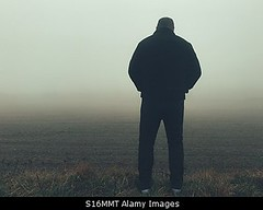 Photo accepted by Stockimo (vanya.bovajo) Tags: stockimo iphonegraphy iphone lonely man disappointed rear view no hope mist fog foggy weather alone loneliness active adult caucasian unhappy mystic mysterious male field nobody fields nature