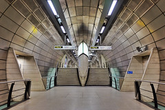 Counterbalance (Douguerreotype) Tags: uk gb britain british england london underground tube metro subway tunnel stairs steps symmetry scifi futuristic architecture city urban transport